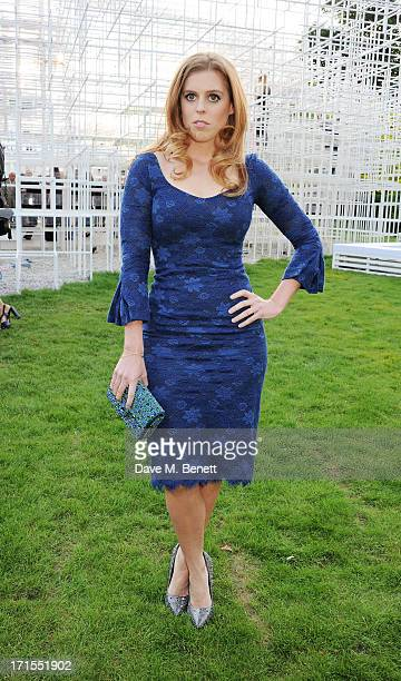 Princess Beatrice of York attends the annual Serpentine Gallery Summer Party cohosted by L'Wren Scott at The Serpentine Gallery on June 26 2013 in...