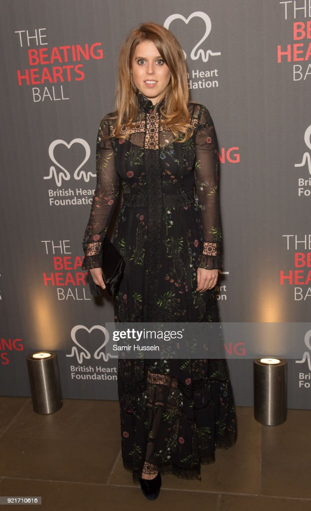 Princess Beatrice of York attends the British Heart Foundation's 'The Beating Hearts Ball' at The Guildhall on February 20, 2018 in London, England.