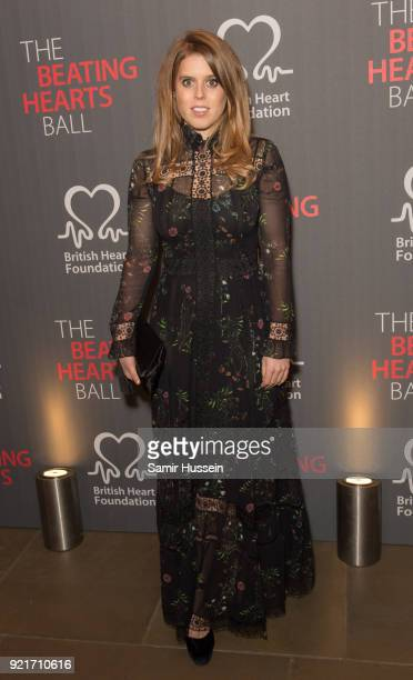 Princess Beatrice of York attends the British Heart Foundation's 'The Beating Hearts Ball' at The Guildhall on February 20 2018 in London England