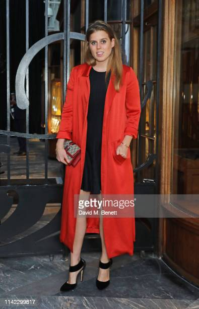 Princess Beatrice of York attends the Burlington Arcade 200th anniversary dinner at Burlington Arcade on May 8 2019 in London England