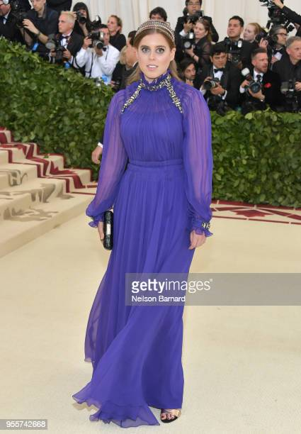 Princess Beatrice of York attends the Heavenly Bodies Fashion The Catholic Imagination Costume Institute Gala at The Metropolitan Museum of Art on...