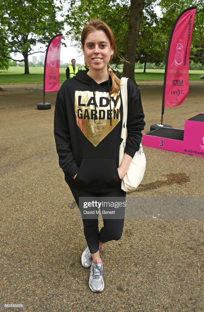 Princess Beatrice of York attends the Lady Garden 5K & 10K Run in aid of Silent No More Gynaecological Cancer Fund in Hyde Park on May 13, 2017 in London, England.
