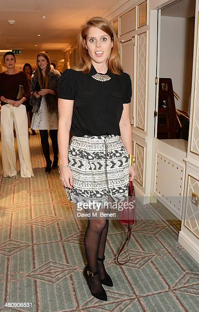 Princess Beatrice of York attends the launch of 'Mrs Alice In Her Palace' hosted by Alice Naylor Leyland at Fortnum Mason on March 27 2014 in London...