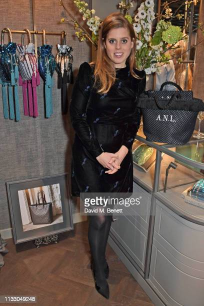 Princess Beatrice of York attends the launch of the second collaboration between Misela Alice NaylorLeyland in time for the Misela flagship store...