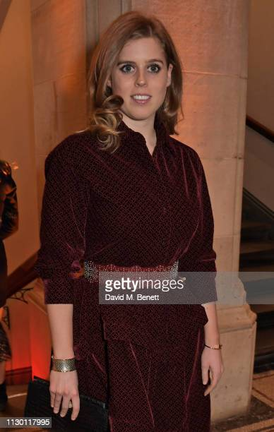 Princess Beatrice of York attends The Portrait Gala 2019 hosted by Dr Nicholas Cullinan and Edward Enninful to raise funds for the National Portrait...