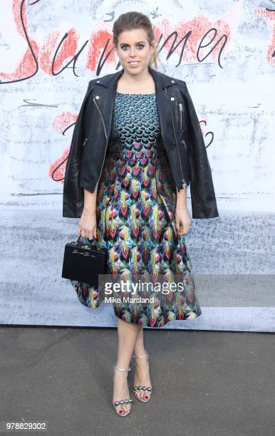 Princess Beatrice of York attends The Serpentine Gallery Summer Party at The Serpentine Gallery on June 19 2018 in London England