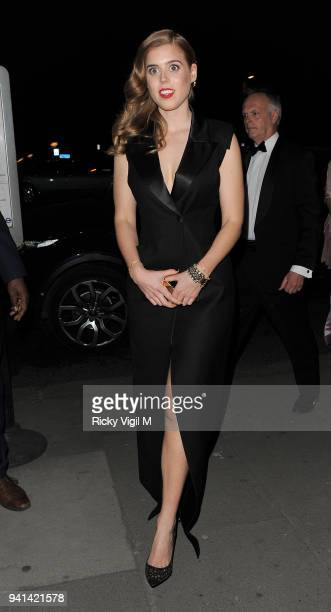 Princess Beatrice of York attends the Victoria Albert Museum Fashion Benefit Dinner Alexander McQueen Savage Beauty preview at the Victoria and...