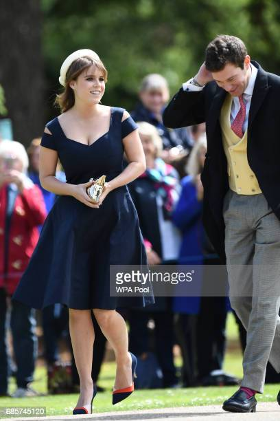 Princess Beatrice of York attends the wedding of Pippa Middleton and James Matthews at St Mark's Church on May 20 2017 in Englefield Green England