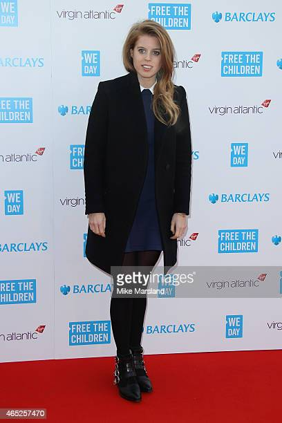 Princess Beatrice of York attends We Day UK at Wembley Arena on March 5 2015 in London England