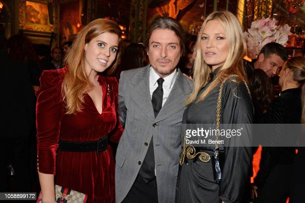 Princess Beatrice of York Darren Strowger and Kate Moss attend the Annabel's Art Auction fundraiser in aid of Teenage Cancer Trust Teen Cancer...