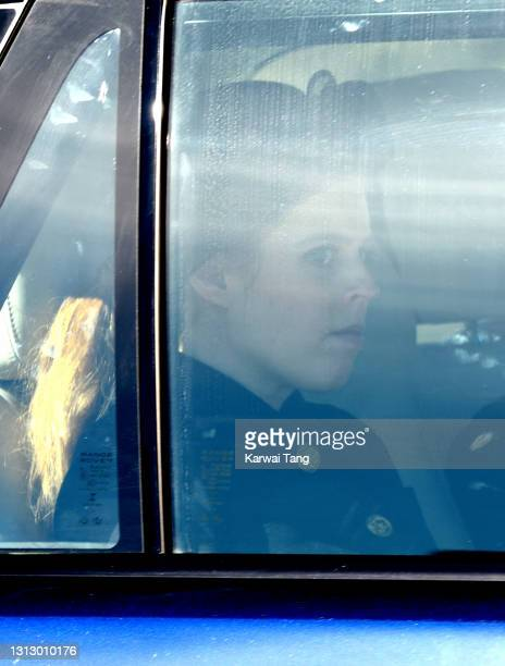 Princess Beatrice of York departs after attending the funeral of Prince Philip, Duke of Edinburgh on April 17, 2021 in Windsor, England. The Duke of...
