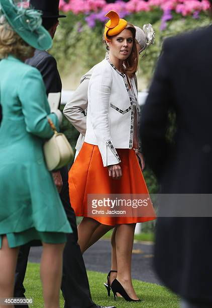 Princess Beatrice of York during the Royal Procession on day three of Royal Ascot at Ascot Racecourse on June 19 2014 in Ascot England