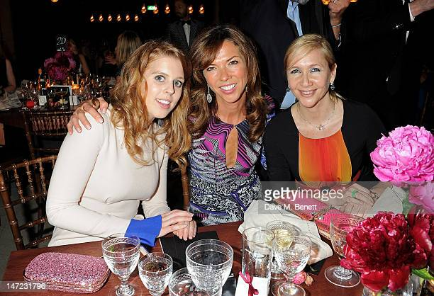 Princess Beatrice of York Heather Kerzner and Tania Bryer attend the 'Britain Creates 2012 Fashion Art Collusion' VIP Gala dinner in association with...