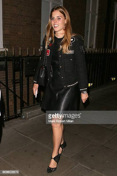 Princess Beatrice of York leaving Soho House on September 21 2016 in London England