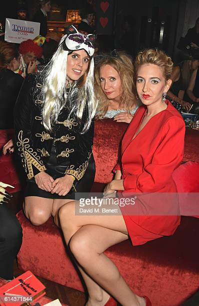 Princess Beatrice of York Martha Ward and Sabine Getty attend the Unicef UK Halloween Ball raising vital funds to support Unicef's lifesaving work...