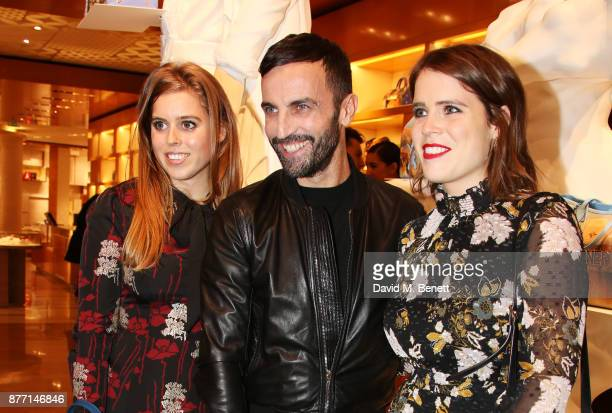 Princess Beatrice of York Nicolas Ghesquiere and Princess Eugenie of York attend Louis Vuittons Celebration of GingerNutz in Vogue's December Issue...