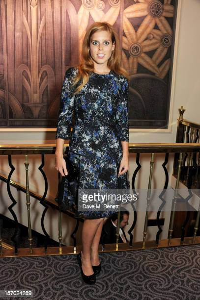 Princess Beatrice of York poses at the British Fashion Awards 2012 at The Savoy Theatre on November 27, 2012 in London, England.