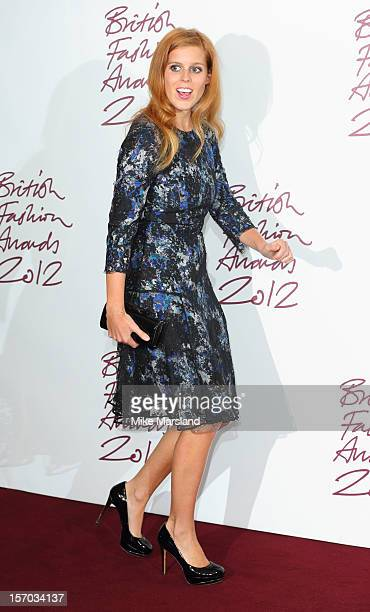 Princess Beatrice of York poses in the awards room at the British Fashion Awards 2012 at The Savoy Hotel on November 27, 2012 in London, England.