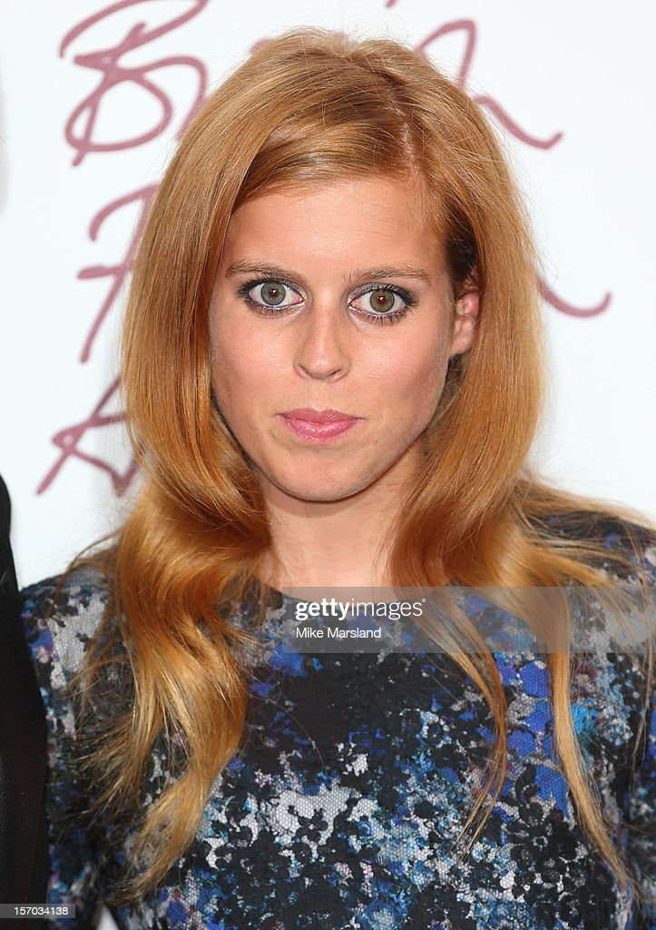 Princess Beatrice Of York Poses In The Awards Room At The British