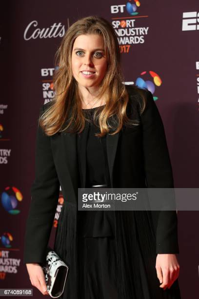 Princess Beatrice of York poses on the red carpet during the BT Sport Industry Awards 2017 at Battersea Evolution on April 27 2017 in London England...