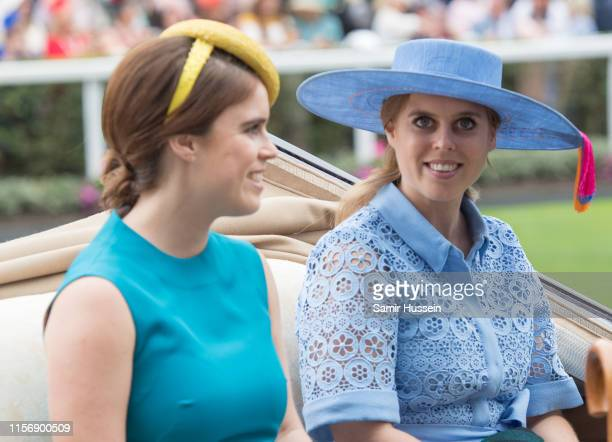 Princess Beatrice of York Princess Eugenie of York attend day one of Royal Ascot at Ascot Racecourse on June 18 2019 in Ascot England