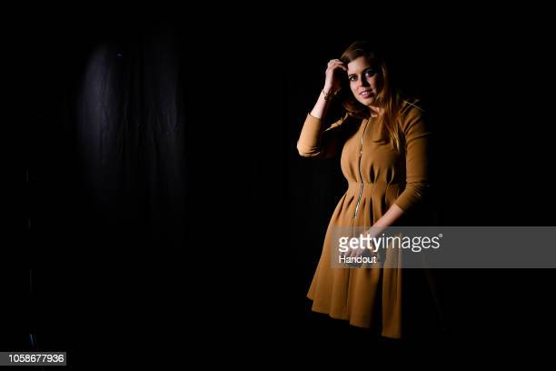 Princess Beatrice of York prior to appearing on the Forum Stage during day two of Web Summit 2018 at the Altice Arena on November 7 2018 in Lisbon...