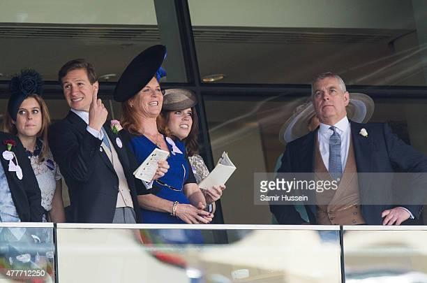 Princess Beatrice of York Sarah Ferguson Princess Eugenie of York and Prince Andrew Duke of York race the races during day 4 of Royal Ascot at Ascot...