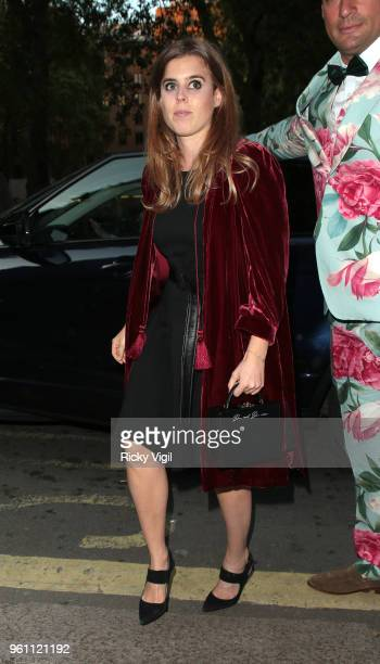Princess Beatrice of York seen attending Annabel's x Dior dinner to celebrate the RHS Chelsea Flower Show on May 21 2018 in London England