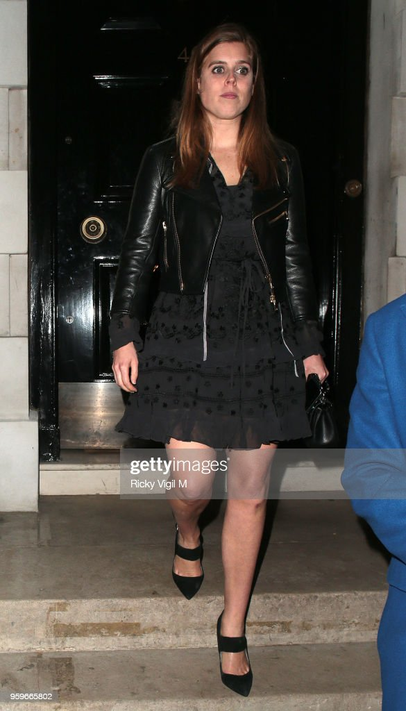 Princess Beatrice of York seen on a night out at Annabel's club in Mayfair on May 17, 2018 in London, England.