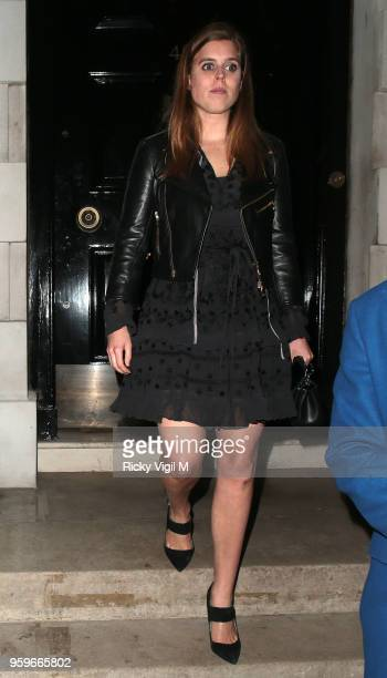 Princess Beatrice of York seen on a night out at Annabel's club in Mayfair on May 17 2018 in London England