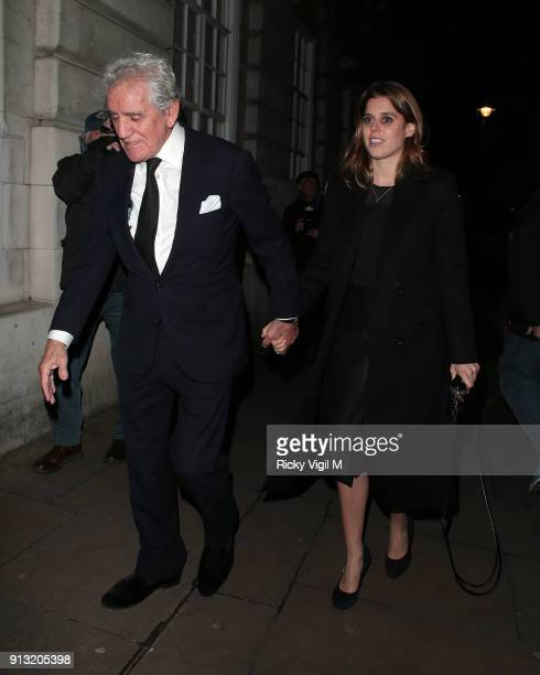 Princess Beatrice of York seen on a night out at Loulou's club in Mayfair on February 1 2018 in London England