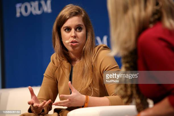 Princess Beatrice of York speaks during the Web Summit 2018 in Lisbon Portugal on November 7 2018