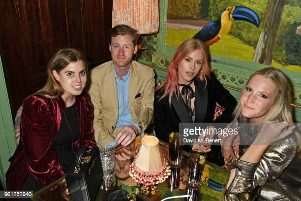Princess Beatrice of York Tom NaylorLeyland Mary Charteris and Alice NaylorLeyland attend the Annabel's x Dior dinner on May 21 2018 in London England