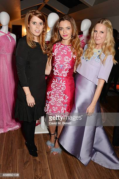 Princess Beatrice of York Toujouri Creative Director Lama El Moatassem and Alice Naylor Leyland attend as evening wear label TOUJOURI presents their...