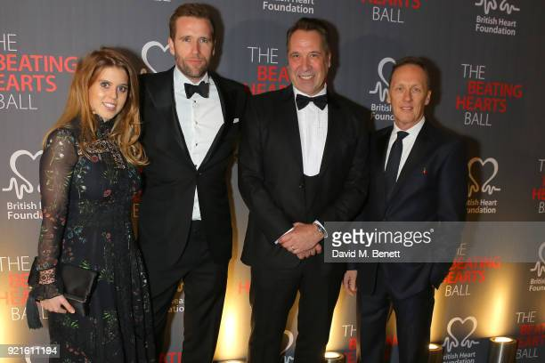 Princess Beatrice of York Wilfred Frost David Seaman and Lee Dixon attend the British Heart Foundations Beating Hearts Ball at The Guildhall on...