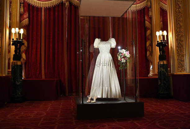 GBR: Princess Beatrice's Wedding Dress On Display At Windsor Castle