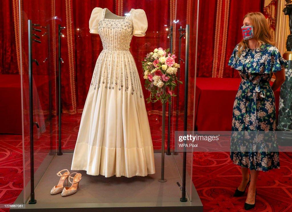 Princess Beatrice's Wedding Dress Goes On Display At Windsor Castle : News Photo