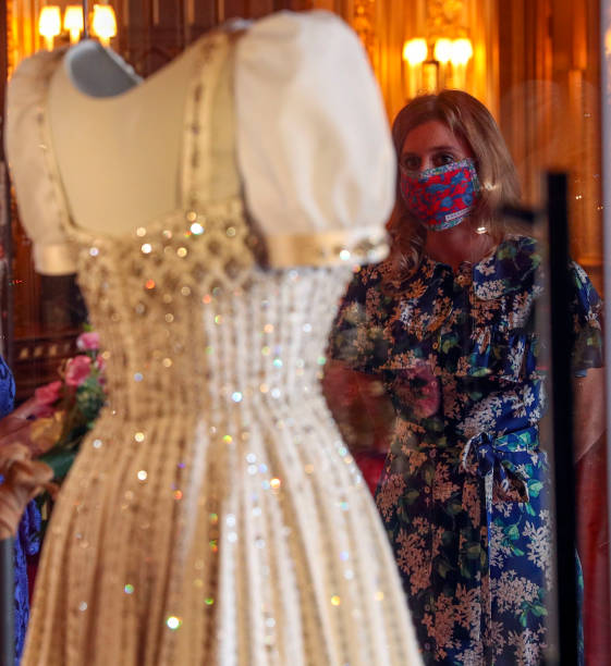 GBR: Princess Beatrice's Wedding Dress Goes On Display At Windsor Castle