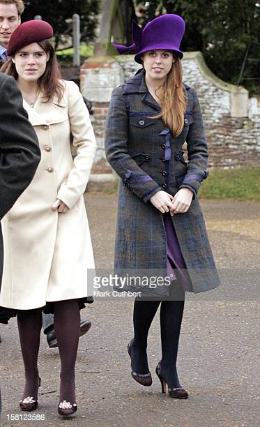 Princess Beatrice Princess Eugenie Attend The Christmas Day Service At Sandringham Church