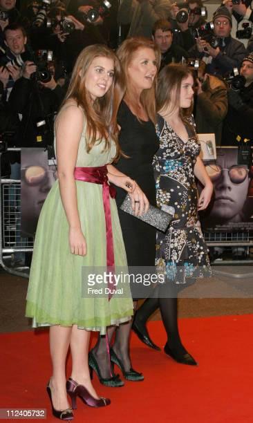 Princess Beatrice Sarah Ferguson Duchess of York and Princess Eugenie