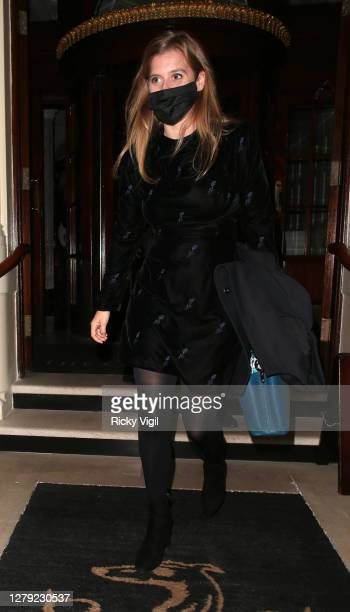 Princess Beatrice seen on a night out at The Connaught Hotel on October 08 2020 in London England