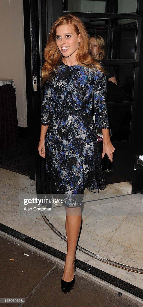 Princess Beatrice sighting at the British Fashion Awards on November 27, 2012 in London, England.