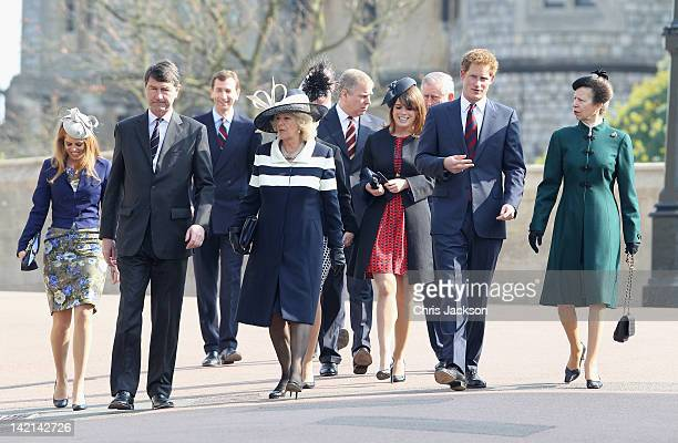 Princess Beatrice Timothy Laurence Camilla Duchess of Cornwall Prince Andrew Duke of York Princess Eugenie Prince Charles Prince of Wales Prince...