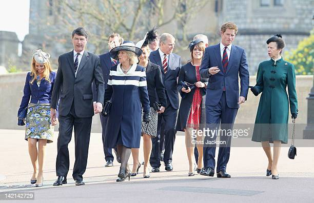 Princess Beatrice Timothy Laurence Camilla Duchess of Cornwall Sophie Countess of Wessex Prince Andrew Duke of York Princess Eugenie Prince Harry and...
