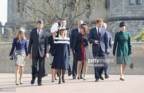 Princess Beatrice Timothy Laurence Sophie Countess of Wessex Camilla Duchess of Cornwall Prince Andrew Duke of York Princess Eugenie Prince Harry...