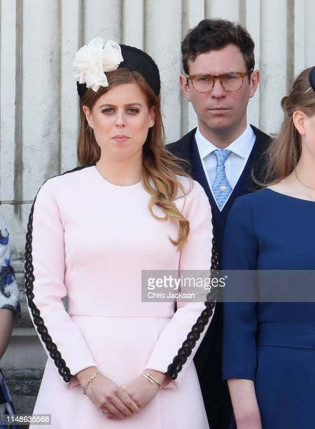 Princess Beatrice Windsor and Jack Brooksbank during Trooping The Colour the Queen's annual birthday parade on June 8 2019 in London England