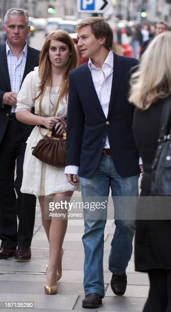 Princess Beatrice With Boyfriend Dave Clark Arrive At A Private Fundraiser For Prince Harrys Charity Sentebale Supporting The People Of Lesotho London