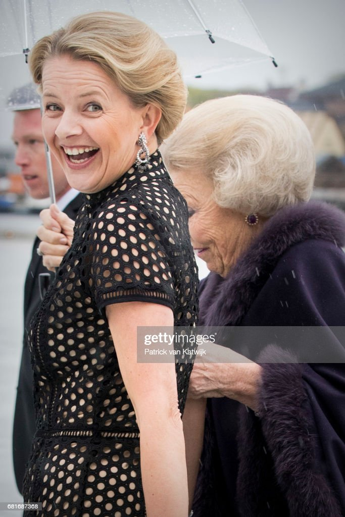 Princess Beatrix and Princess Mabel of The Netherlans arrive at the Opera House on the ocassion of the celebration of King Harald and Queen Sonja of Norway 80th birthdays on May 10, 2017 in Oslo, Norway.