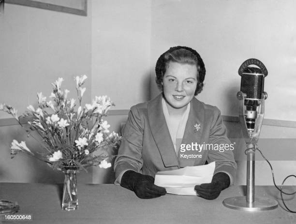 Princess Beatrix, Crown Princess of Holland, speaking to the people of Surinam and Dutch Antilles during a radio broadcast to mark Kingsday, 15th...