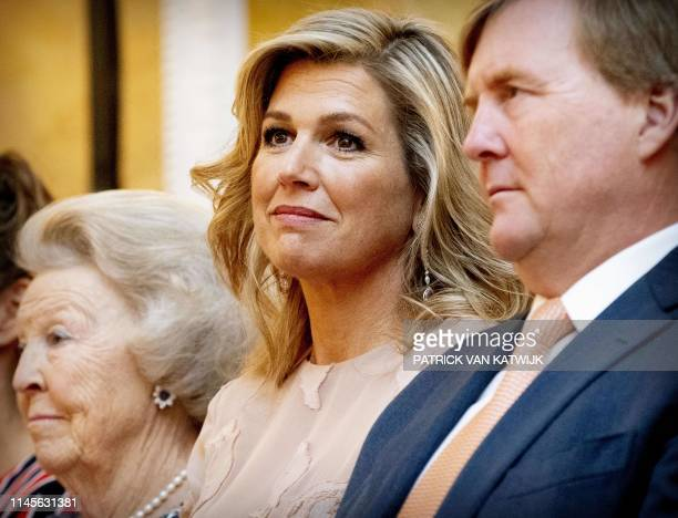 Princess Beatrix King WillemAlexander Queen Maxima of The Netherlands attend the annual award ceremony of the Appeltjes van Oranje created by charity...